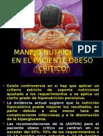 Manejo Nutricional en El Paciente Critico Obeso DOSA y Cool