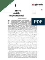 La Jornada- El Nuevo Partido Neopentecostal