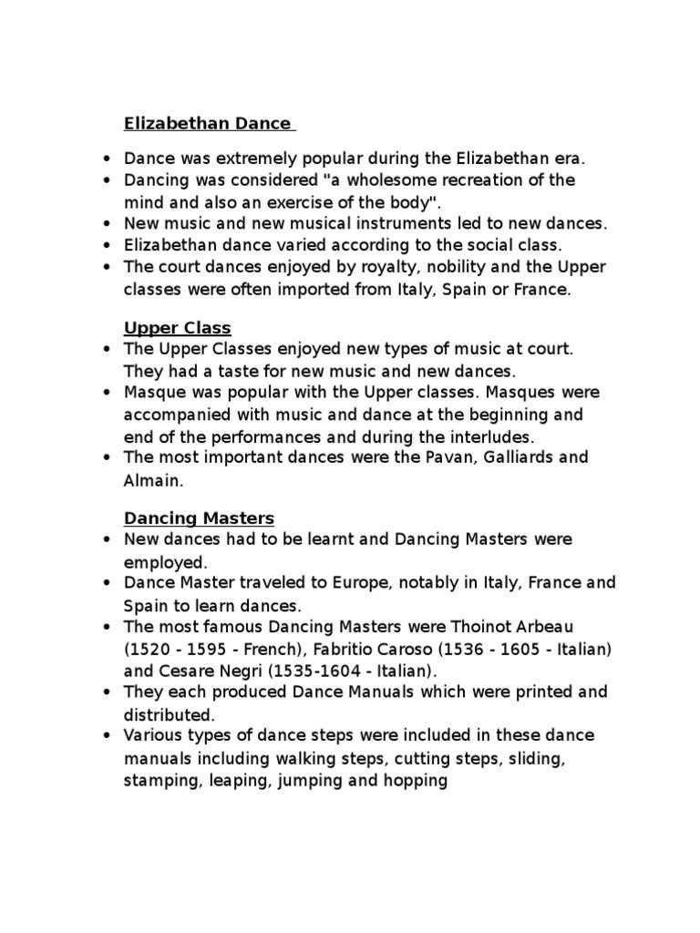 elizabethan dance