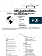 The Department of Transportation's Air Travel consumer reports