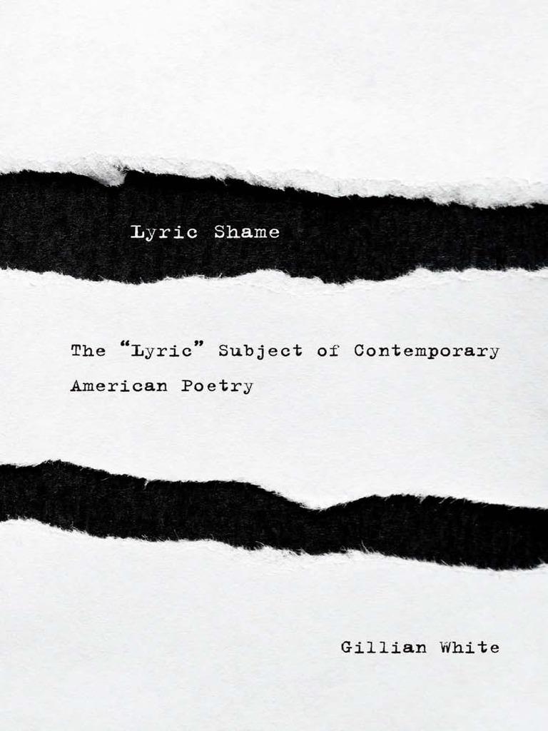 Lyric Shame - Gillian White | Lyric Poetry | Poetry