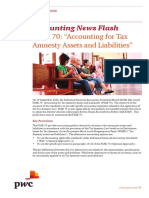 PWC Accounting Newsflash 2016 Tax Amnesty