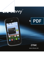 ZTE Savvy Z750C User's Manual