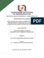 Tesis Licenciatura en Administracion Financiera