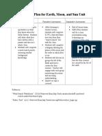 assessment plan for earth