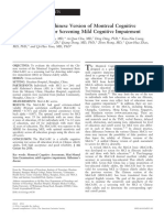 Validation of the Chinese Version of Montreal Cognitive Assessment Basic for Screening Mild Cognitive Impairmentl