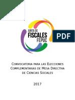 Convocatoria Elecciones Complementarias CCSS 2017