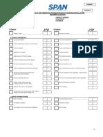 Checklist Sub Reg Sew SPAN