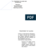 Treatment of Aliens Extradition Group 3