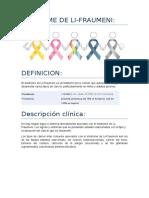 Síndrome de Li-Fraumeni. seminario