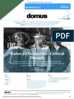 States of Design 04_ Critical Design - Design - Domus