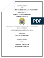 study of bank challenges and priorities