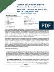 PROGRAMACIÓN CURRICULAR ANUAL DEL ÁREA DE COMUNICACIÓN 5° 2017