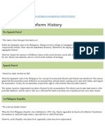 Agrarian Reform History