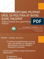 Filipino Political Philosophy