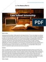 Livelaw.in - All About Internships the Basics Part I