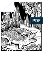 Coloring-Adult-Africa-crocodiles_jpg in Africa _ Coloring Pages for Adults