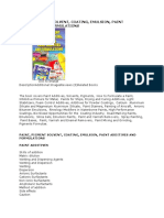 Paint Pigment Solvent Coating Emulsion Formulations Book