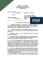 Counter-Affidavit Economic Abuse