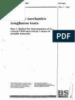 BS 7448 Part 1-1991 Fcracture Mechanics Toughness Tests