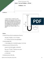 Worksheet - Gas Law Problems - AP Level