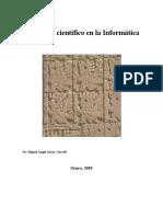Libro Metodologia Cientica aplicada a Informática