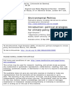 Political Strategies for Climate Policy