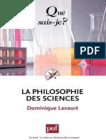 La Philosophie Des Sciences - Dominique Lecourt