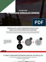 Program Jokowi - Fokus Utama Kebijakan Deregulasi Ekonomi
