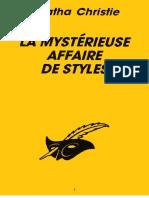 1.Christie,Agatha-La Mysterieuse Affaire de Styles(1920)Alz