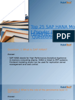 Top SAP HANA Interview Question and Answer