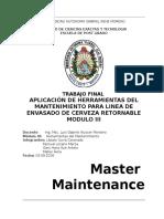 Trabajo Final Módulo III 2016 Herramientas de Mantenimiento
