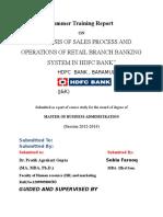 609. Sales Process of Hdfc Bank