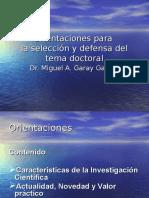 Tesis Doctoral Seleccion Del Tema