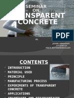 Transparent Concrete Seminar