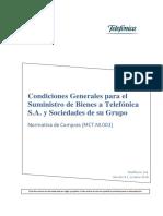 MCT NI 003 Condiciones Generales Para El Suministro de Bienes Oct2016