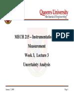 MECH215-Week03Lecture3-UncertaintyAnalysis