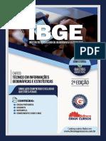 Instituto Brasileiro de Geografia e Estatista Ibge Tecnico Em Informacoes Geograficas e Estatisticas Ai 7898620621445