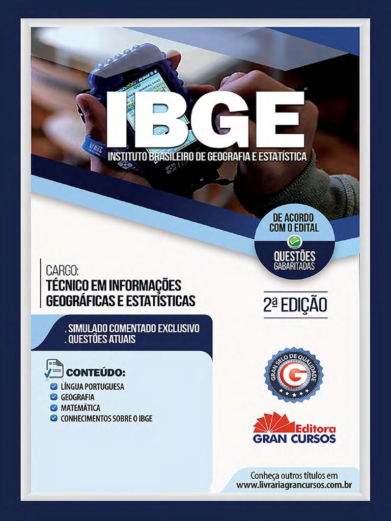 001fea393 Instituto Brasileiro de Geografia e Estatista Ibge Tecnico Em Informacoes  Geograficas e Estatisticas Ai 7898620621445