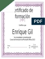 Certificado Modelo 2