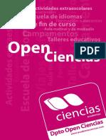 Dossier OpenCiencias 2015 16