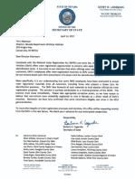 SOS Cegavske Letter to DMV Director Albertson