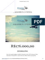 Oportunidade! Paradise P-1 à Venda