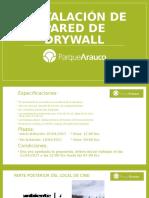 Instalación de Dry Wall