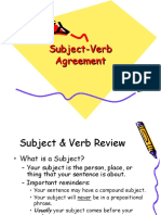 Subject-Verb Agreement WR