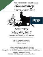2017 UWRF Sale Catalog