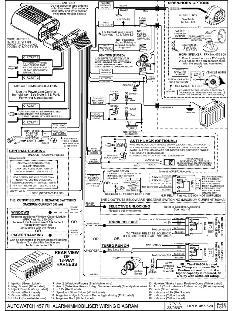 Exelent Autowatch 276 Alarm Wiring Diagram Component - Electrical ...