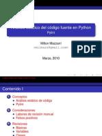 Análisis estático de código fuente en Python