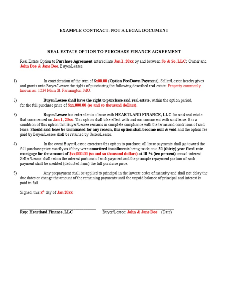 Example of contract john doe lease indemnity platinumwayz