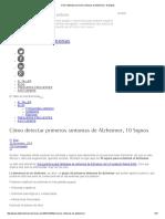 Cómo Detectar Primeros Sintomas de Alzheimer, 10 Signos